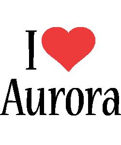 Aurora i-love logo