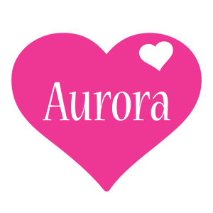 Aurora love-heart logo