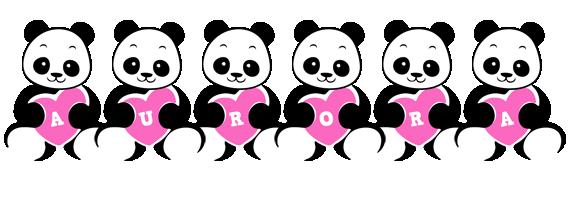 Aurora love-panda logo