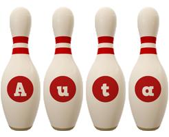 Auta bowling-pin logo
