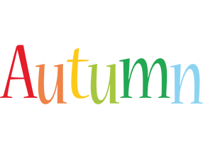 Autumn birthday logo