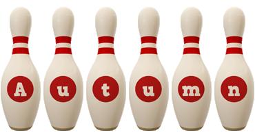 Autumn bowling-pin logo