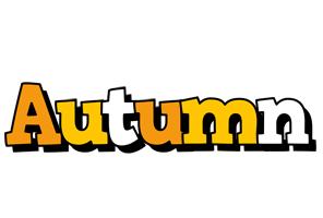 Autumn cartoon logo