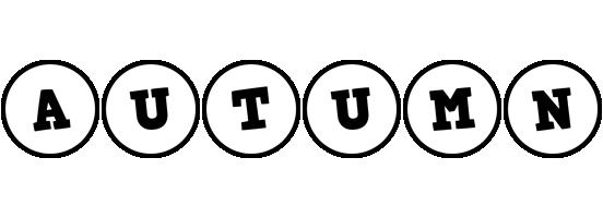 Autumn handy logo