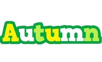 Autumn soccer logo