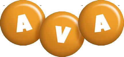 Ava candy-orange logo