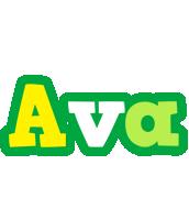 Ava soccer logo