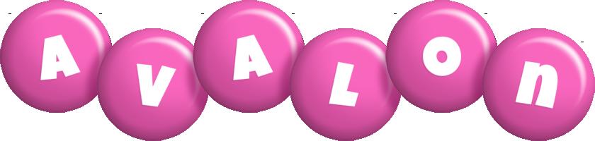 Avalon candy-pink logo