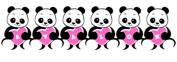 Avalon love-panda logo
