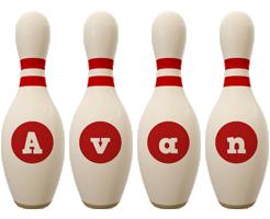 Avan bowling-pin logo