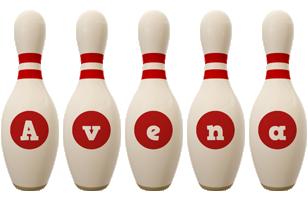 Avena bowling-pin logo