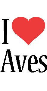Aves i-love logo