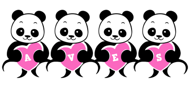 Aves love-panda logo