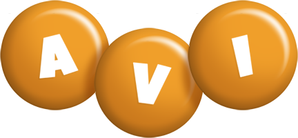 Avi candy-orange logo