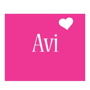 Avi love-heart logo