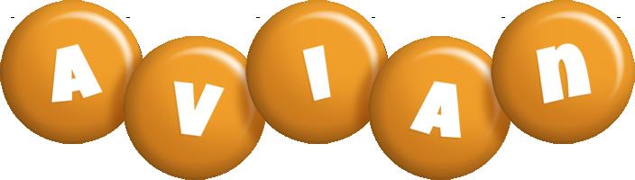 Avian candy-orange logo