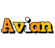 Avian cartoon logo