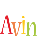 Avin birthday logo
