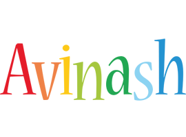 Avinash birthday logo