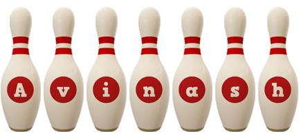 Avinash bowling-pin logo