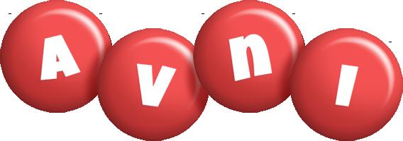 Avni candy-red logo