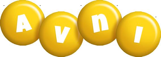 Avni candy-yellow logo