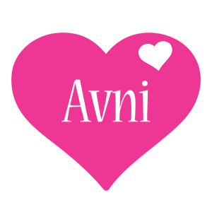 Avni love-heart logo
