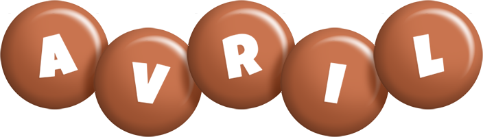 Avril candy-brown logo
