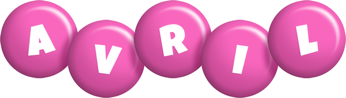 Avril candy-pink logo