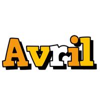 Avril cartoon logo