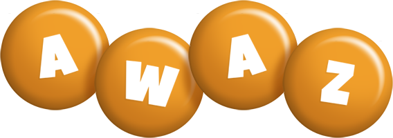 Awaz candy-orange logo