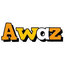 Awaz cartoon logo