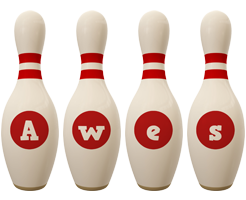 Awes bowling-pin logo