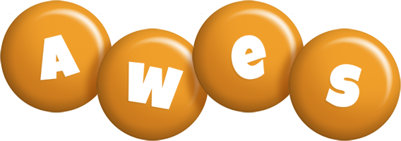 Awes candy-orange logo