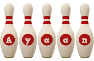 Ayaan bowling-pin logo