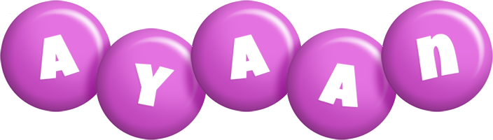 Ayaan candy-purple logo