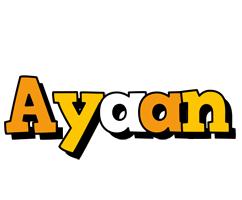 Ayaan cartoon logo