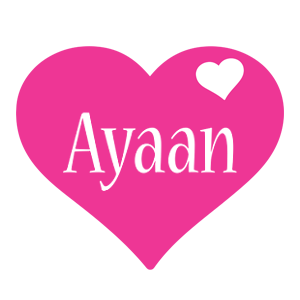 Ayaan love-heart logo
