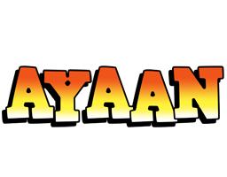 Ayaan sunset logo