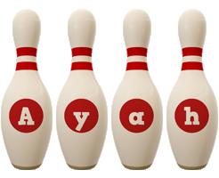 Ayah bowling-pin logo