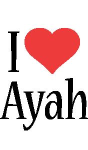Ayah i-love logo