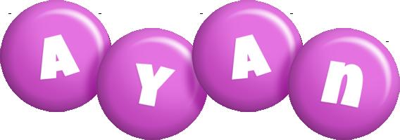 Ayan candy-purple logo