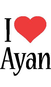 Ayan i-love logo