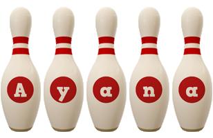 Ayana bowling-pin logo