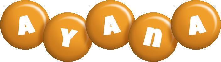 Ayana candy-orange logo