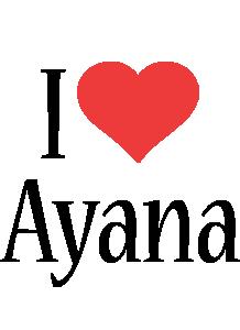 Ayana i-love logo