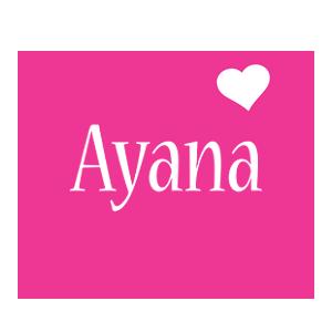 Ayana love-heart logo