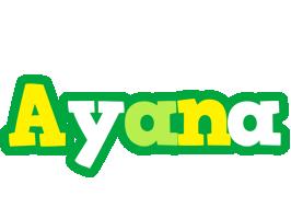 Ayana soccer logo