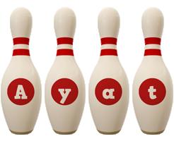 Ayat bowling-pin logo