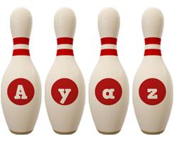 Ayaz bowling-pin logo